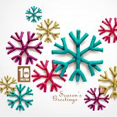 Abstract Clay Christmas Snowflakes.
