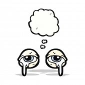 crying eyes cartoon