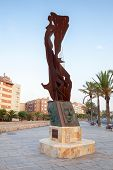 Monument A Catalunya. Embankment Of Calafell