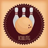 picture of bowling ball  - an isolated group of bowling pins and a bowling ball - JPG