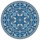 decorative design of circle dish template, round geometric patte