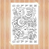 Doodle element with concept of a creative idea.