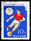 Postage Stamp North Korea 1965 Soccer Player