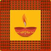 Vector colorful diwali diya illustration