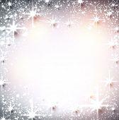 Shiny starry christmas background. Vector Illustration.