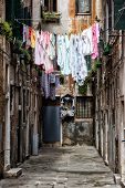 Colorful Washings In Venice, Italy