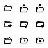 Vector folder icon set
