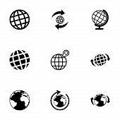 Vector glode icon set