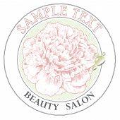 label for beauty salon.label for beauty salon.vector illustration