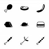 Vector meat icon set