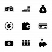 Vector money icon set