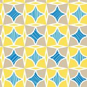 Blue and yellow marble textured tiles seamless pattern background
