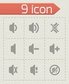 Vector speaker icon set