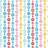 Colorful Snowflakes Stripes Seamless Pattern Background