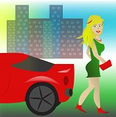 Sports Cars And Woman