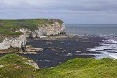 Cliffs At Flamborough Head Overlooking The Sea