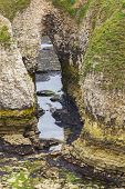 Rocky Caves On Coastline Flamborough Head
