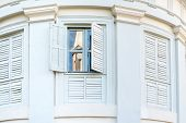 Old Windows With Shutters