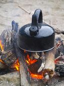 Campfire and Tea Kettle
