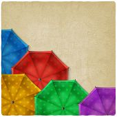 colored umbrellas background
