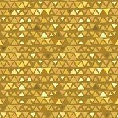 Golden Triangle seamless pattern, yellow beige background. Vector