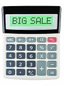 Calculator With Big Sale On Display