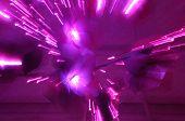 Pink and Purple Streaks of Light