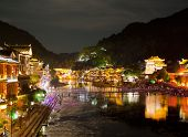 Evening in the town Fenghuang