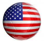 Soccer ball  with US flag