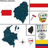 Map Of Atlantico, Colombia