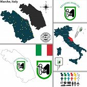 Map Of Marche, Italy