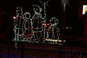 Christmas lights in the form of human figures