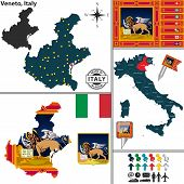 Map Of Veneto, Italy