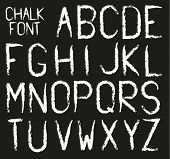 Chalk Font (alphabet In Chalk Style)