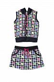 picture of mini-skirt  - Skirt and vest sport suit on white background - JPG