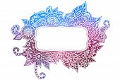 Colored Doodle Frame