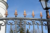 Decorative Forged Fence  With  Ornaments .