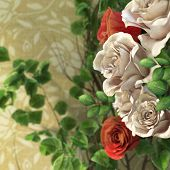 flowers and plants holiday concept background