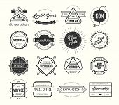 Set Of Vintage Badges And Labels, Inspired By Space Themes