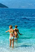 Familys Summer Holidays On Sea (greece).