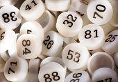 Plenty Of White Plastic Bingo Game Numbers