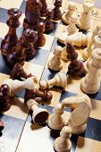 Wooden Chess On The Chessboard