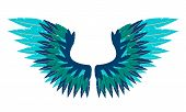 Abstract bird wings. Vector illustration