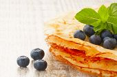 Crepes With Blueberries