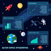 Space Infographic Set