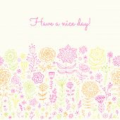 Floral Background - Have A Nice Day.