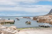 Crayfish Boats Arriving At Kleinmond Harbor