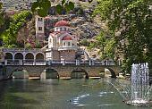 Traditional Orthodox Greek church at Kefalari, Peloponnesus, Greece