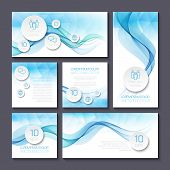 Set of templates for print or web design