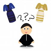 Puzzle what color of dress white and  gold or black blue